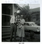 Judy with her folks