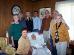 Celebrating Cora's 98th Birthday, October 22nd are Bob & Louise with daughter Teresa along with Jimmy & Betty and their